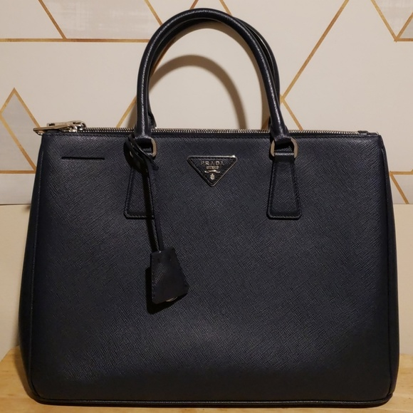 8939390bc5eb Prada Galleria Saffiano Lux Double Zip tote medium. Listing Price: $875.00